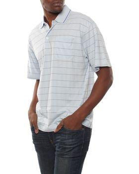 Patrick J Spaced Stripe Golfer - Blue