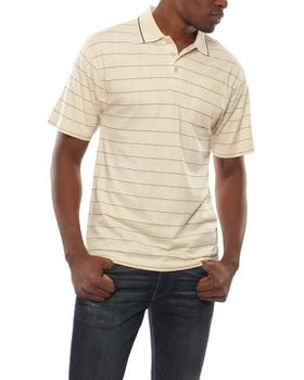 Patrick J Spaced Stripe Golfer - Stone