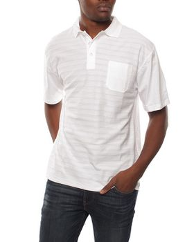 Patrick J Raised-Stripe Golfer - White