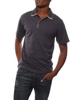 Patrick J Interest Striped Golfer - Navy