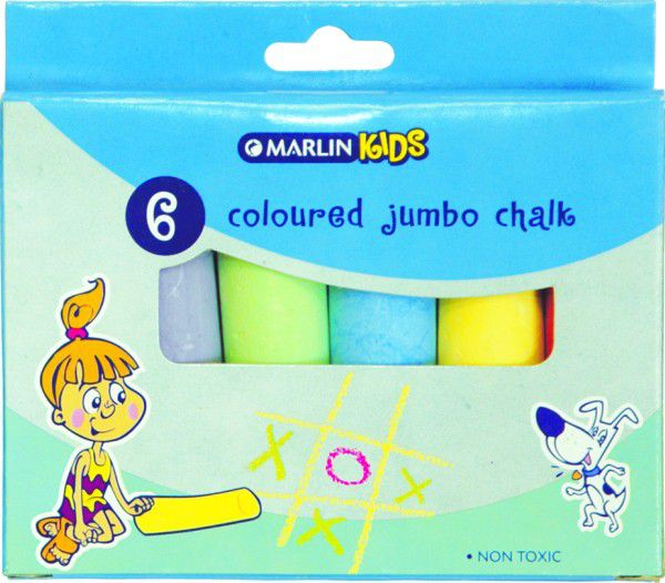 Marlin Kids Colour Jumbo Chalk - 6 Pieces | Buy Online in South ...