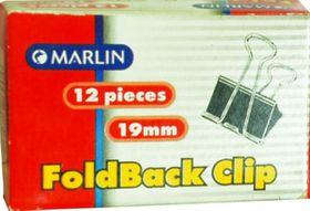 Marlin Fold Back Clips 19mm 12's