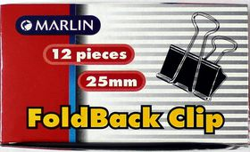 Marlin Fold Back Clips 25mm 12's