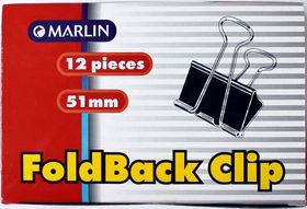 Marlin Fold Back Clips 51mm 12's