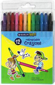 Marlin Kids 12 Retractable Crayons