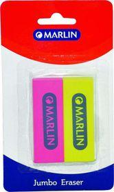 Marlin Jumbo Neon Erasers - 2 Pack