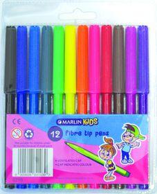Marlin Kids 12 Fibre Tip Pens