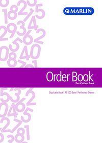 Marlin A5 Duplicate Pen Carbon Book - Order Book