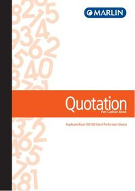 Marlin A5 Duplicate Pen Carbon Book - Quotation