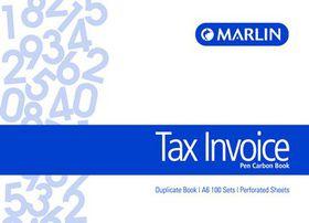 Marlin A6L Duplicate Pen Carbon Book - Tax Invoice