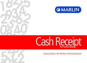 Marlin A6L Duplicate Pen Carbon Book - Cash Receipt
