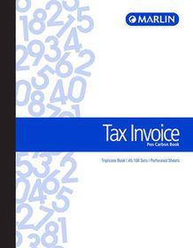 Marlin A5 Triplicate Pen Carbon Book - Tax Invoice