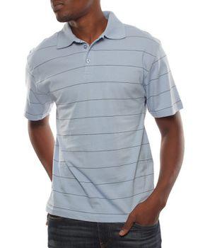 Patrick J Spread-Stripe Golfer - Light Blue