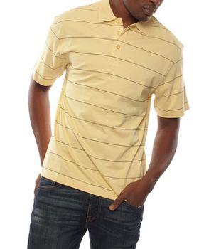 Patrick J Spread-Stripe Golfer - Yellow
