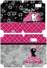 MUY POP Girl A4 Precut Book Covers - 5 Per Pack - 2 Designs