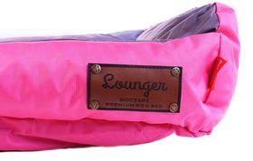 Dog's Life - Retro Lounger Waterproof Winter Bed In Pink - Medium