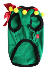 Dog's Life - Christmas Range Elf With Bow In Green - 2 x Extra Large