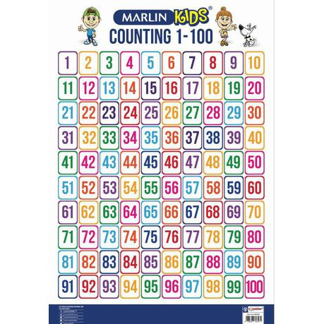 Marlin Kids Chart - Counting 1 to 100