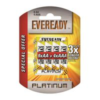 Eveready Platinum batteries AAx12+AAAx8 - Pack of 20