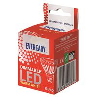 Eveready LED Light GU10 5W Warm White (Dimmable)