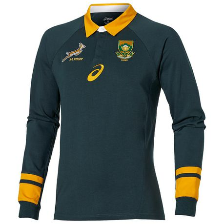 Men S Asics Springbok Fan Long Sleeve Jersey Buy Online In South