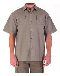 bb4ebe4020bd3 Wildway Heavy Weight Men s Bush Shirt - Khaki