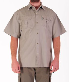 Wildway Heavy Weight Men's Bush Shirt - Stone