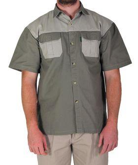 Wildway Two-Tone Men's Bush Shirt - Brown/Stone