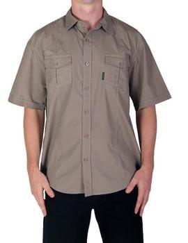 Wildway Light-Weight Men's Bush Shirt - Khaki