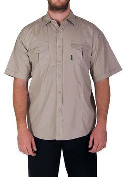 Wildway Light-Weight Men's Bush Shirt - Stone