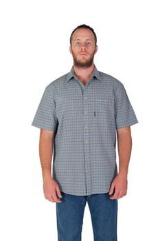 Wildway Men's Casual Shirts - Blue Check