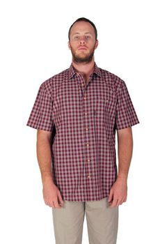 Wildway Men's Casual Shirts - Red