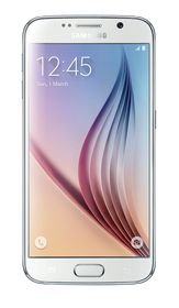 Samsung Galaxy S6 32GB LTE + Wireless Charger + Cover Bundle - White