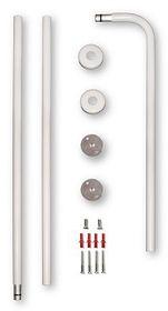 Tubarose Shower Curtain Rail - CSR7017