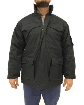 Restless Men's 2803NLN Long Flap-Pocket Jacket - Black
