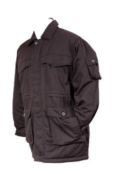 Restless Men's 2803CTN Long Flap-Pocket Jacket - Black