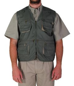 Wildway Men's Multi-Pocket Fishing Jacket - Olive
