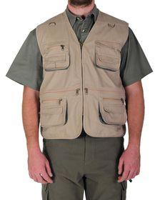 Wildway Men's Multi-Pocket Fishing Jacket - Khaki