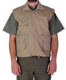 Wildway Men's Reversible Fishing Jacket - Khaki