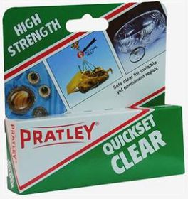 Pratley - 40ml Quickset Glue - Clear