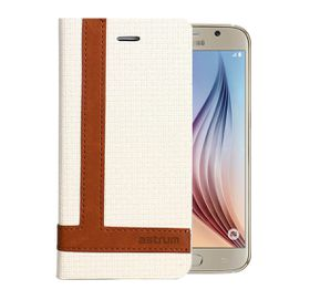 Astrum Tee Pro Galaxy S6 Flip Cover - MC590 White