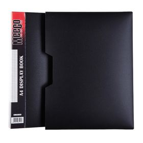 Meeco Executive A4 Display Book 100 Pockets - Black