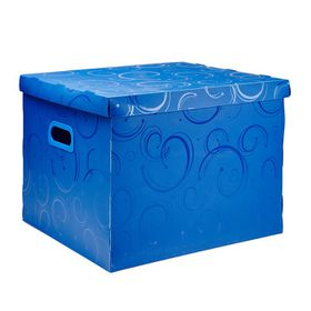 Meeco Creative Collection P.P Archive Size Storage Box - Blue