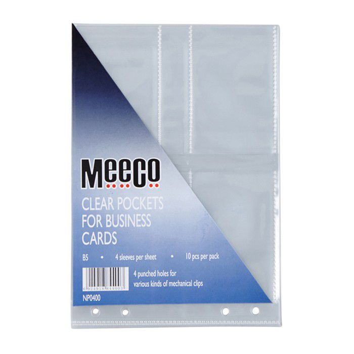 Meeco a5 business card holder refills pack of 10 buy online in meeco a5 business card holder refills pack of 10 loading zoom reheart Image collections