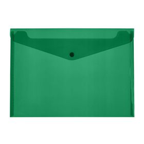 Meeco A4 PP Document Envelope - Green