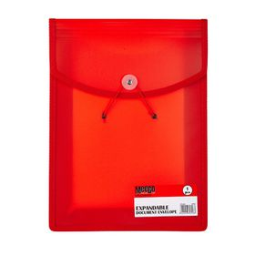 Meeco Expandable Document Envelope - Red