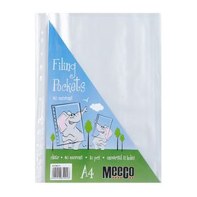 Meeco A4 40micron Filing Pockets - 10 Pack