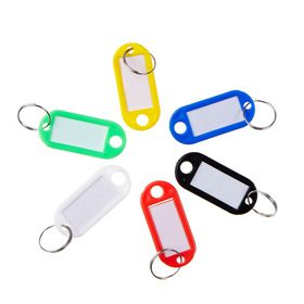 Meeco Key Rings - 20 Pack of Assorted Colours