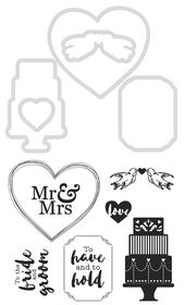 Kaisercraft Cutting Die & Stamps - Wedding
