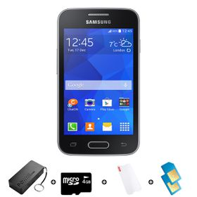 Samsung Trend Neo 4GB 3G Black - Bundle 1 incl. R2000 airtime + 1.2GB Starter Pack + Accessories